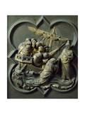 Christ in Storm, Bronze Panel Giclée-tryk af Lorenzo Ghiberti