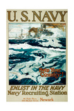 U.S. Navy WWI Recruitment Poster Giclee Print by Henry Reuterdahl