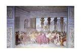 Trajan Dismissing His Armed Guard in Conspirator Licinius Sura's House, 1820 Giclee Print by Luigi Ademollo