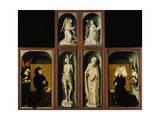 Last Judgment Polyptych, also known as Beaune Altarpiece Giclée-Druck von Rogier van der Weyden