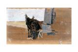 Horses Giclee Print by Giuseppe De Nittis