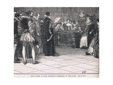 Mary Queen of Scots Receiving Intimation of Her Doom Giclee Print by Henry Marriott Paget