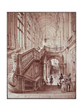 Hall of Palazzo Madama Giclee Print by Giovanni Migliara