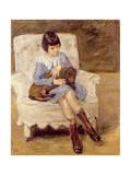 Maria Riezler-White Giclee Print by Max Liebermann