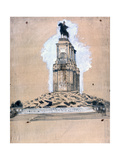 Sketch of the Monument to Vittorio Emanuele II Giclee Print by Giuseppe De Nittis