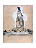 Sketch of the Monument to Vittorio Emanuele II Giclee Print by Giuseppe De Nittis