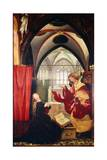 The Annunciation, Detail from the Isenheim Altarpiece, Ca 1515 Giclée-tryk af Matthias Grünewald