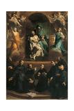Pity and Saints, 1730 Giclée-tryk af Giuseppe Maria Crespi
