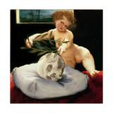 Cherub with a Skull Giclee Print by Lorenzo Lotto