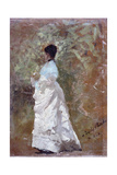 Walking in the Garden Giclee Print by Giuseppe De Nittis