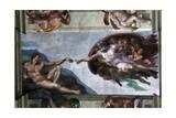 The Creation of Adam, C.1512, Sistine Chapel Giclee Print by  Michelangelo Buonarroti