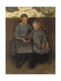 Two Walloon Country Girls, 1888 Giclee Print by Leon Henri Marie Frederic