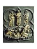 Transfiguration, Bronze Panel Giclée-tryk af Lorenzo Ghiberti