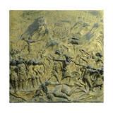 Slaying Goliath, Panel Giclée-tryk af Lorenzo Ghiberti