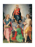 Madonna of the Girdle Between St James and St Sebastian Giclée-tryk af Jacopo Pontormo