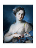 Allegory of Spring, 1726 - 1727 Giclée-tryk af Rosalba Giovanna Carriera