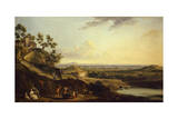 View of Dijon from Daix, France Giclee Print by Jean-Baptiste Lallemand