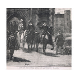 James and His Courtiers Setting Out for the Hunt 1608 Giclee Print by Henry Marriott Paget