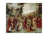 Santa Cecilia Giving Her Possessions to the Poor, Ca 1506 Giclee Print by Lorenzo Costa