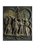 Road to Calvary, Panel Giclée-tryk af Lorenzo Ghiberti