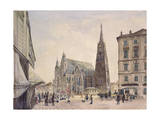 Saint Stephan Cathedral in Vienna, 1832 Giclee Print by Rudolph von Alt