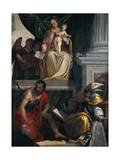 Madonna and Saints with Bevilacqua Lazise Donors Giclee Print by Paolo Caliari
