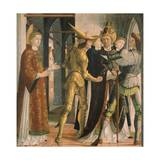 Pope Sixtus II Taking Leave from Saint Lawrence, Circa 1465 Giclee Print by Michael Pacher