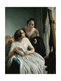 Two Women or the Letter Giclee Print by Luigi Trecourt