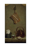 Still Life with Quarter of Meat, Sugar Bread, Copper Kettle and Cup Giclee Print by Jean-Baptiste Oudry