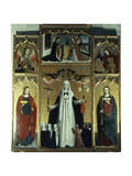 St Catherine Triptych Giclee Print by Ludovico Brea