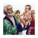 Abram Admiring Ishmael, the Son of Hagar Giclee Print by Pat Nicolle