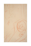 Sketch of Jane Avril Lámina giclée por Henri de Toulouse-Lautrec