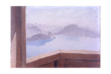 Mountains and Lakes Giclee Print by Giuseppe De Nittis