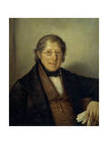 Portrait of Gaetano Bertolassone D'Arache, 1830-1840 Giclee Print by Natale Schiavoni