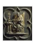 Church Fathers, Panel Giclée-tryk af Lorenzo Ghiberti