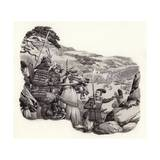 Mongols Invade Japan Giclee Print by Pat Nicolle