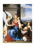Holy Family Served by Angels Giclee Print by Guido Reni