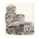 The Great Wall of China Giclee Print by Pat Nicolle