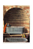 Basalt Sarcophagus Called the Lovers Fountain, 1804 Giclee Print by Luigi Mayer