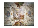 Faith Pointing Out Way to Eternity to Sinner Led by Charity Giclee Print by Paolo Veronese