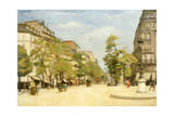 Street Scene in Paris Giclee Print by Michele Gordigiani