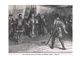 The Duke of York Challenged to Mortal Combat 1451 Giclee Print by Henry Marriott Paget