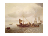 Shipping Scene Giclee Print by Simon Jacobsz. Vlieger