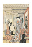 Woman in Front of Mirror Giclee Print by Katsukawa Shunsho