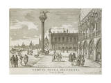 Venice, Piazza San Marco Going Towards the Mint Giclee Print by Luca Carlevaris