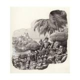 Castle Built by European Traders in West Africa Giclee Print by Pat Nicolle
