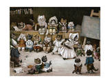 Mrs Tabitha's Cats' Academy, 1895 Giclee Print by Louis Wain