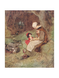 """What Does This Sad Little Brook Say, Mother"" Giclee Print by Hugh Thomson"