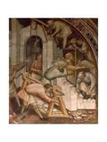 Foundation of Alexandria, Scene from Stories of Alexander III, 1407-1408 Giclee Print by Spinello Aretino
