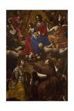 Madonna Between Angel Musicians and Saints Bernard, Margaret and Anthony Giclee Print by Paolo Domenico Finoglia